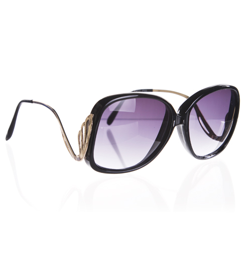 Jeepers Peepers Black Retro Grace Sunglasses from Jeepers Peepers product image