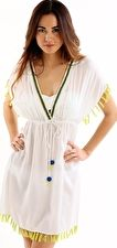 Jets, 1295[^]220603 Accent Embroidered Empire Kaftan - White