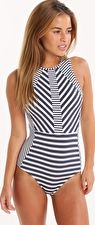 Jets, 1295[^]252326 Meridian High Neck One Piece - Ink