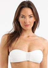 Jets, 1295[^]221375 Parallels Sheer Stripe Gathered Bandeau - White