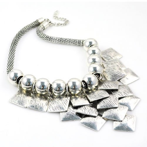 Jewellerygets Necklace Costume Jewellery Statement Necklace with Oversized Metal Pendant, NL-1733 (A) product image