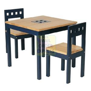 Pin Furniture Wooden Childs Table and 2 Chairs