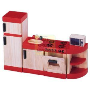 John Crane Ltd PINTOY Wooden Dolls House Furniture Kitchen