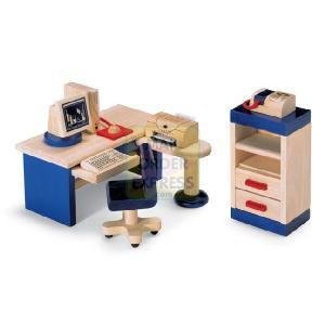 PINTOY Wooden Dolls House Furniture Study