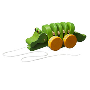 Pull along this brightly coloured alligator and he'll appear to dance. A toy for lots of - CLICK FOR MORE INFORMATION