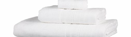 Flat Border Towels, White