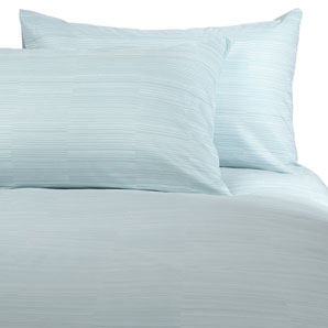 John Lewis Lines Duvet Cover- Ice- Super Kingsize