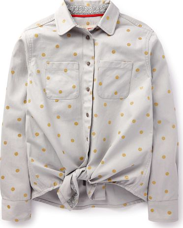 Johnnie  b, 1669[^]35213388 Boyfriend Shirt Light Grey/Gold Spot Johnnie b,