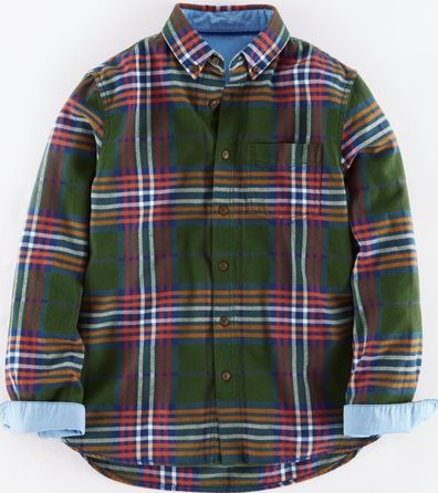 Johnnie  b, 1669[^]34940254 Brushed Flannel Shirt Green Johnnie b, Green
