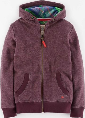 Johnnie  b, 1669[^]34934018 Check Lined Zip-through Aubergine Johnnie b,