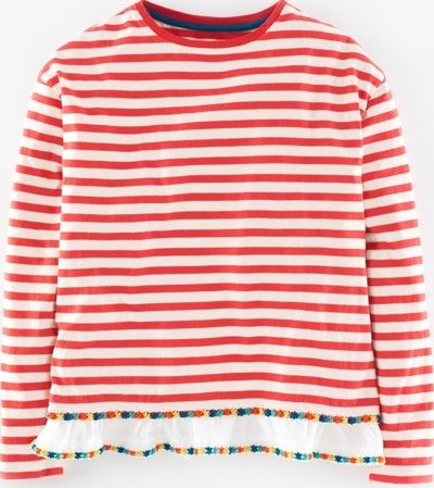 Johnnie  b, 1669[^]34896308 Jasmine Top Washed Red/Ecru Stripe Johnnie b,