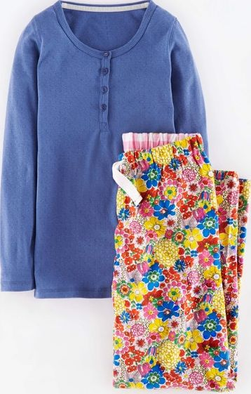 Johnnie  b, 1669[^]34893867 Pyjama Set Bluebell/Multi Sixties Floral Johnnie