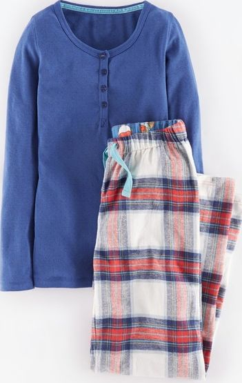 Johnnie  b, 1669[^]34896548 Pyjama Set Soft Navy/Hot Coral Check Johnnie b,