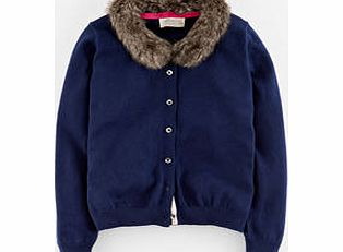 Scarlett Cardigan, Navy/Fur Collar 34422758