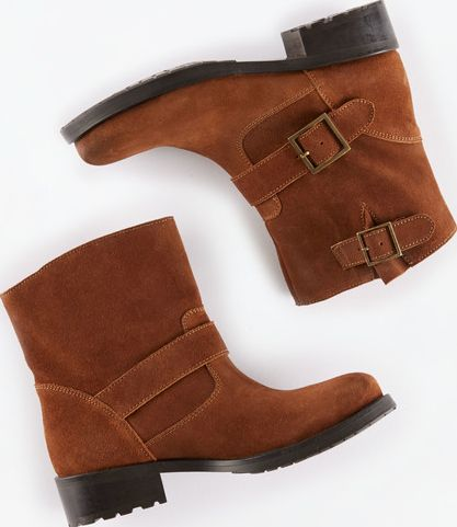 Johnnie  b, 1669[^]34983890 Suede Biker Boots Warm Chestnut Johnnie b, Warm