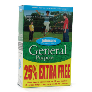 Johnsons General Purpose Grass Seed - 625g Box
