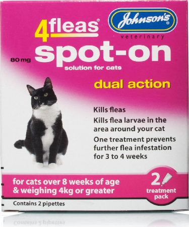 Johnson`s Pet, 2102[^]0104969 Johnsons 4fleas Dual Action Spot On for Cats