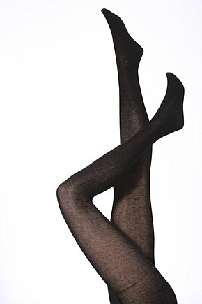 Plain Black Dress on Ladies 1 Pair Jonathan Aston Plain Organic Cotton Tights Black