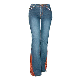 Ladies Cord Insert Jeans