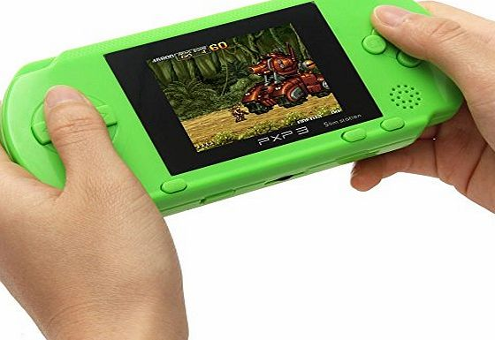 JouerNow Green PXP 3 Handheld Slim 16 Bit Game Console Retro Video Game 150  Games