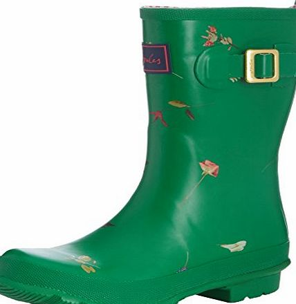 Joules Womens Molly Welly Mid-Calf Boots, Green Garden, 6 UK