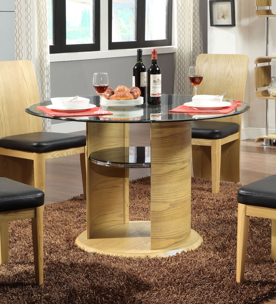 round glass dining table : jual curve oak dining table jf603 from www.comparestoreprices.co.uk size 906 x 1000 jpeg 659kB
