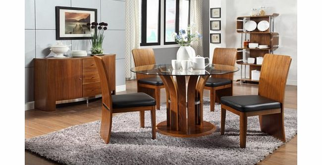 walnut dining furniture dining room sets : jual furnishings ltd jual furnishings curve dining set in walnut with from www.comparestoreprices.co.uk size 650 x 334 jpeg 44kB