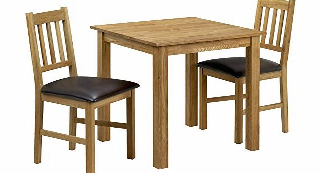 julian bowen coxmoor square dining table set with 2 chairs