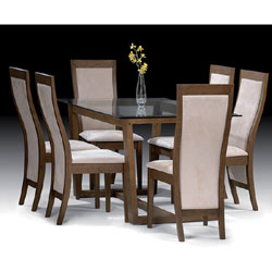 Amazon.com: Wood Dark Espresso Dining Table Set 4 Parson Chairs