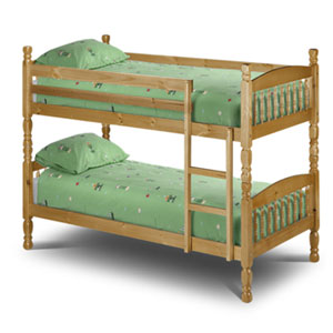 Julian Bowen Lincoln 2FT 6 Small Single Bunk Bed product image