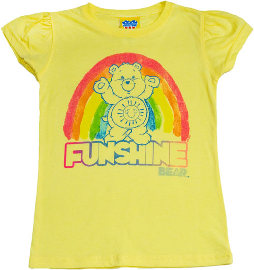 Junk food kids care bears funshine t shirt from junk food