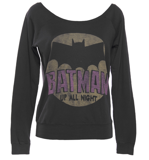 Junk Food Ladies Batman Off The Shoulder Black Label