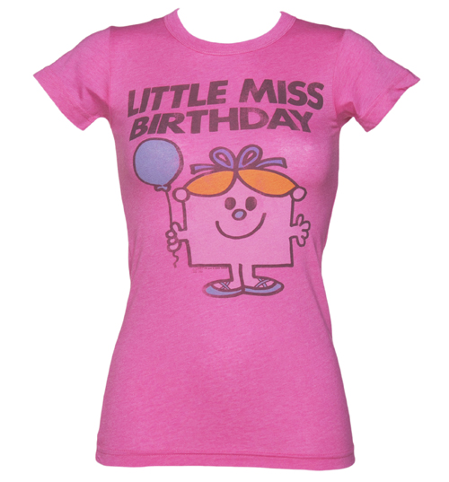 Junk Food Ladies Bright Pink Little Miss Birthday T-Shirt product image