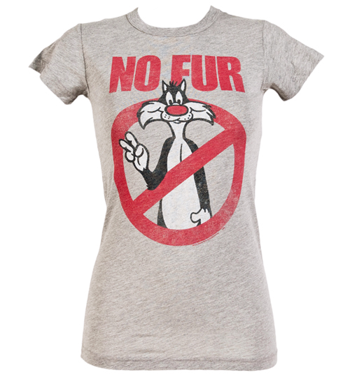 Ladies No Fur Loony Tunes Sylvester T-Shirt from