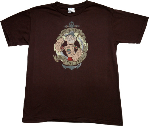 T Shirts · Men` Popeye Tattoo T-Shirt from Junk Food