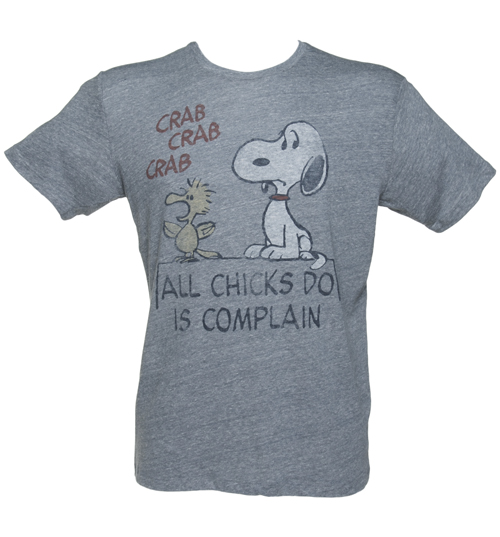 Junk Food Mens Blue Triblend Snoopy All Chicks Do Is product image