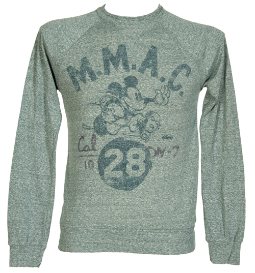 Junk Food Mens Grey Marl Mickey Mouse Pullover from product image