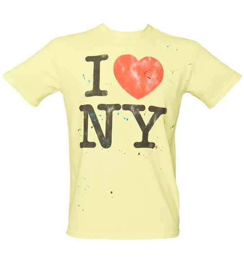 Junk Food Mens I Love NY Sugar White T-Shirt from product image