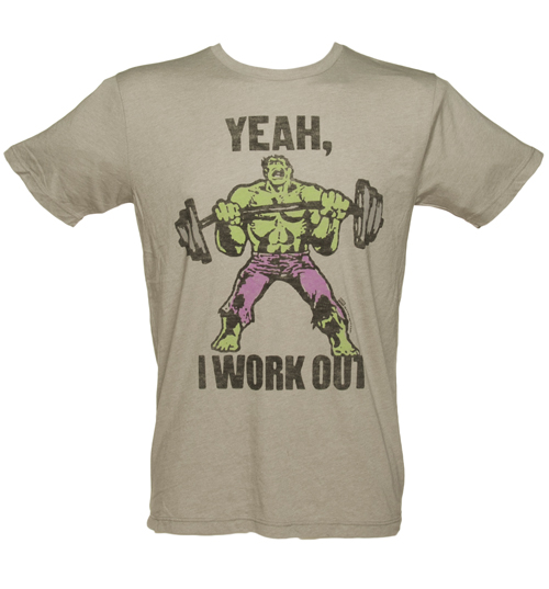 Junk Food Mens Incredible Hulk Yeah I Work Out product image