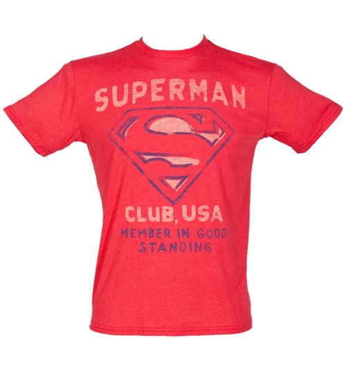 Junk Food Mens Red Superman Club USA T-Shirt from product image