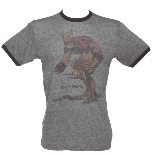 Junk Food Mens Wolverine On The Prowl Grey Triblend product image