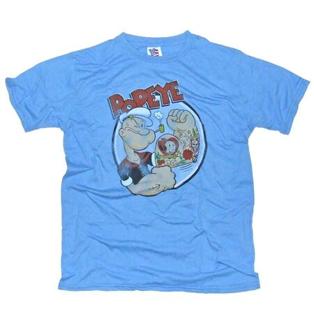 Popeye Tattoo Light Blue T-Shirt