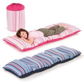 beds just4kidz fun4kidz nap sack bed in a bag