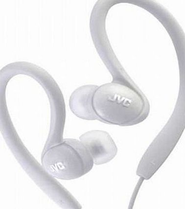 JVC HAEBX85W Inner Ear Sports Clip Headphone (White)
