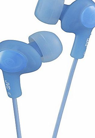 JVC HAFX5AE Gumy Plus Noise Isolating Headphones - Peppermint Blue