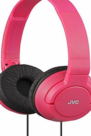 JVC HAS180 Lightweight Powerful Bass Headphones - Red