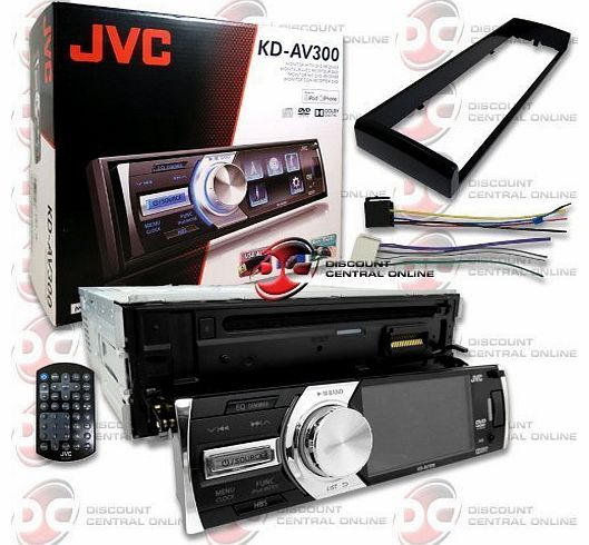 KD-AV300 Car Single-Din 1DIN 3 `` LCD DVD CD Player with Front USB Input & Aux-in + Remote by JVC