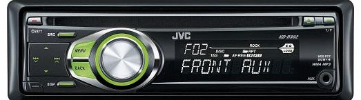 KD-R302 CD/MP3/WMA Car Stereo with Front Aux Input -Green Illumination