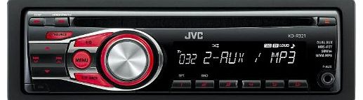 KD-R321 Car CD Receiver with MP3 Stereo, Front Aux - Red Illumination