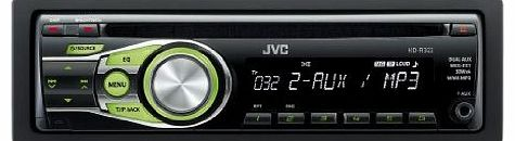 KD-R322 Car CD Receiver with MP3 Stereo, Dual Aux-in, RCA Pre-Out - Green Illumination